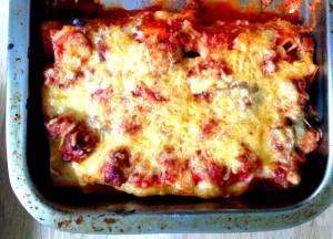 Lasagne-Gehakt-Aubergine