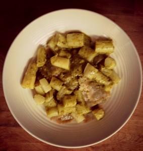 Ravioli met pesto en asperges
