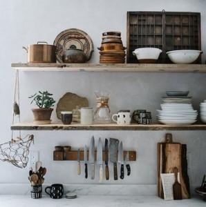 Houten keuken planken
