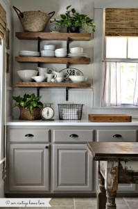 Houten planken voor keuken