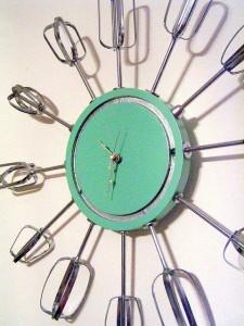 Retro klok van mixers