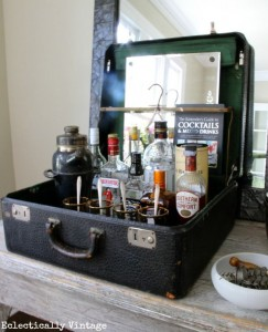 Suitcase bar inspiratie