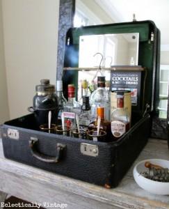 Suitcase bar inspiratie