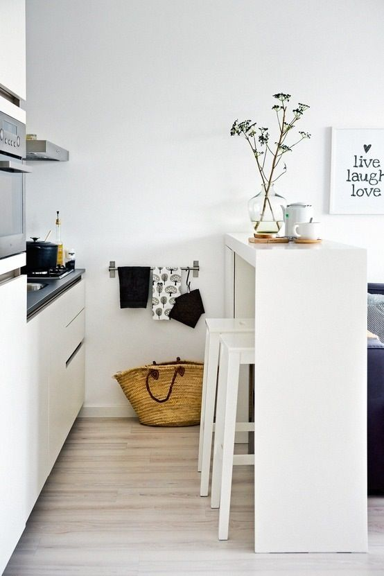 10x simple & white   great little kitchen