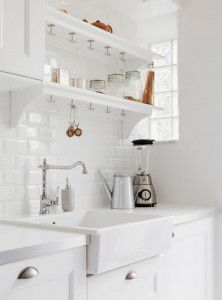klassieke witte keuken