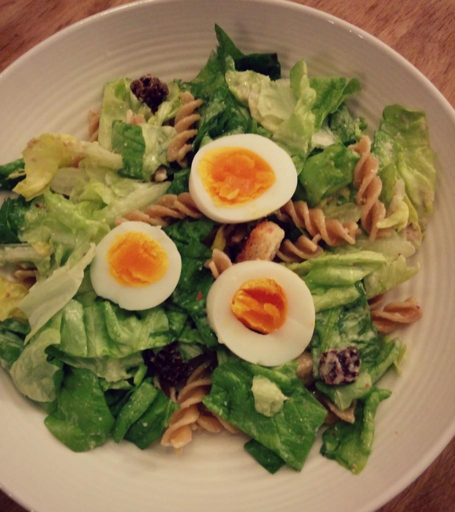 Caesar Salade met pasta