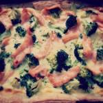 Quiche met broccoli en zalm