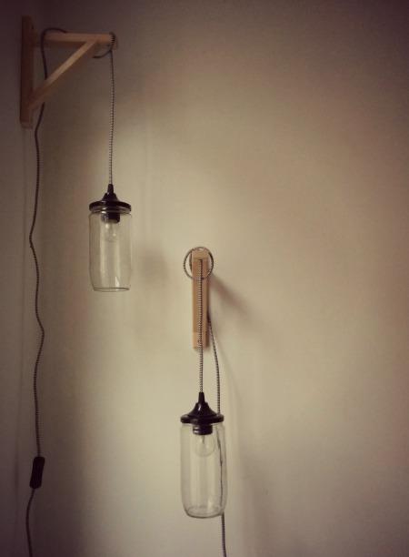 diy fles lampen