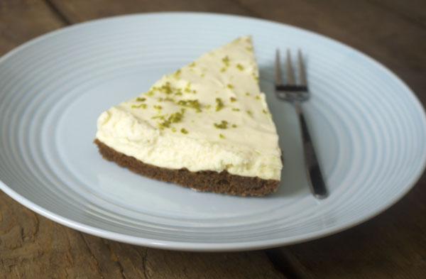 Limoen cheesecake no-bake