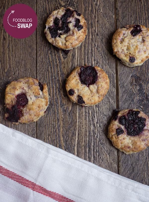 Foodblogswap scones met blauwe bessen