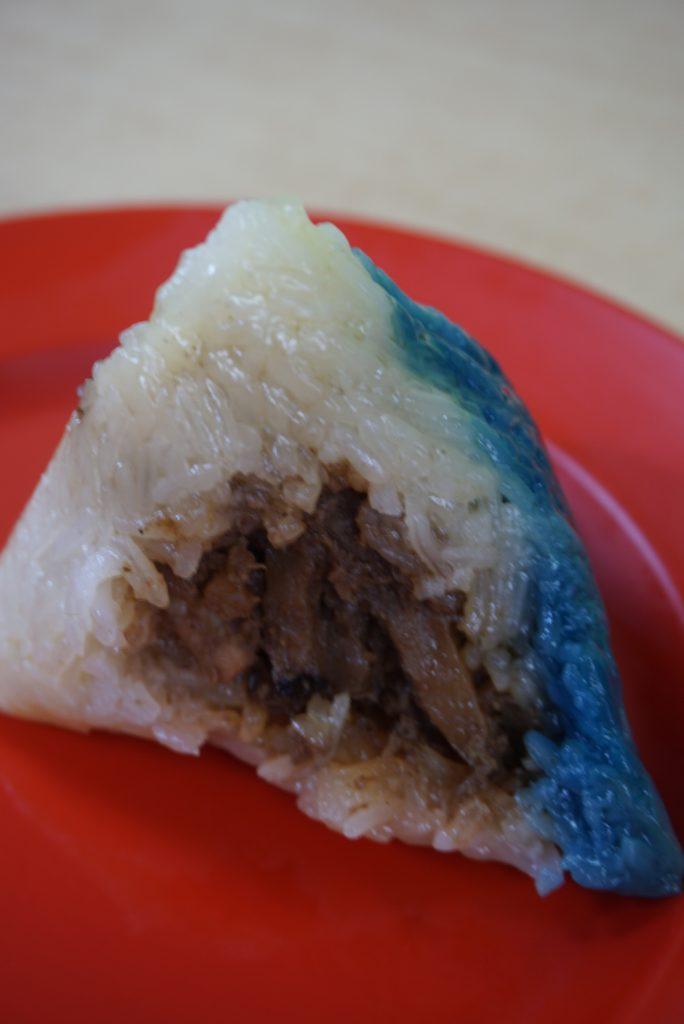 Blue Chinese dumpling
