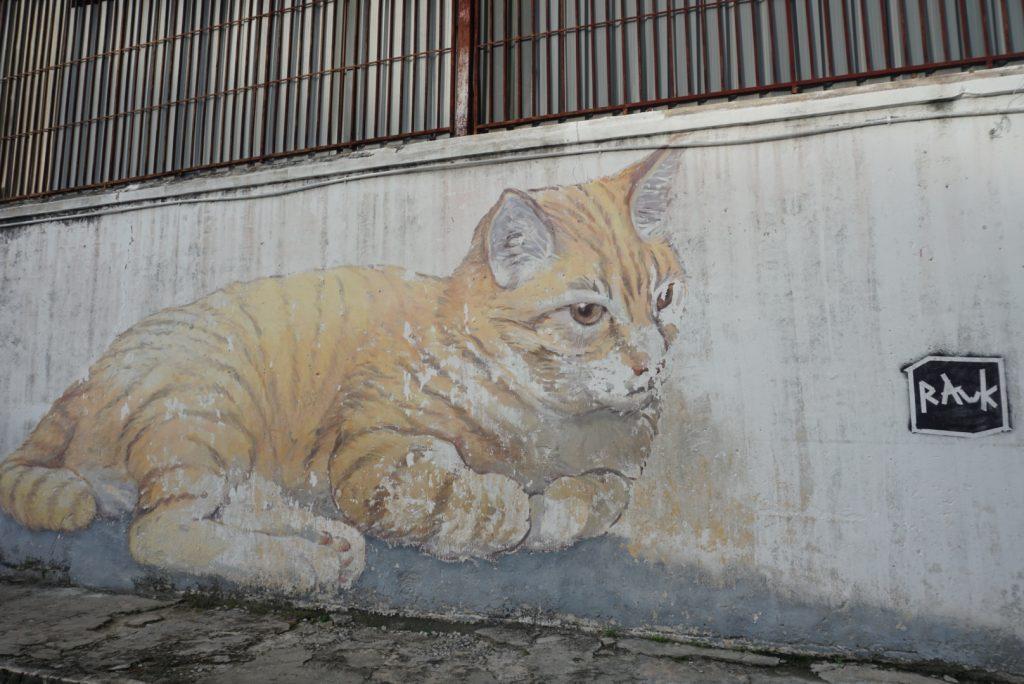 Cat Street art Penang