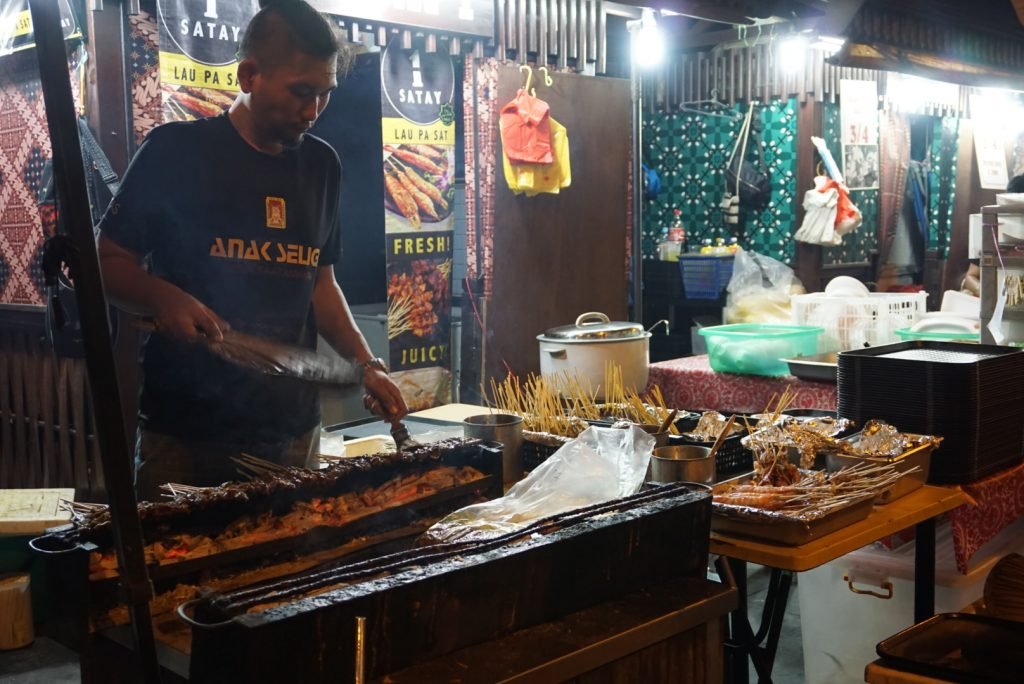 Satay street Lau Pa Sat