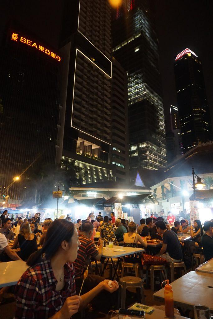 Night at Lau Pa Sat