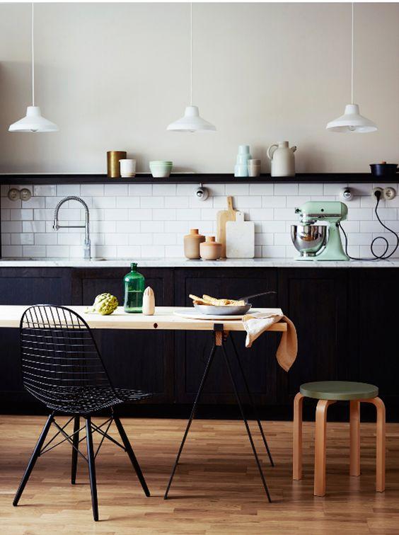 zwart wit keuken scandinavisch