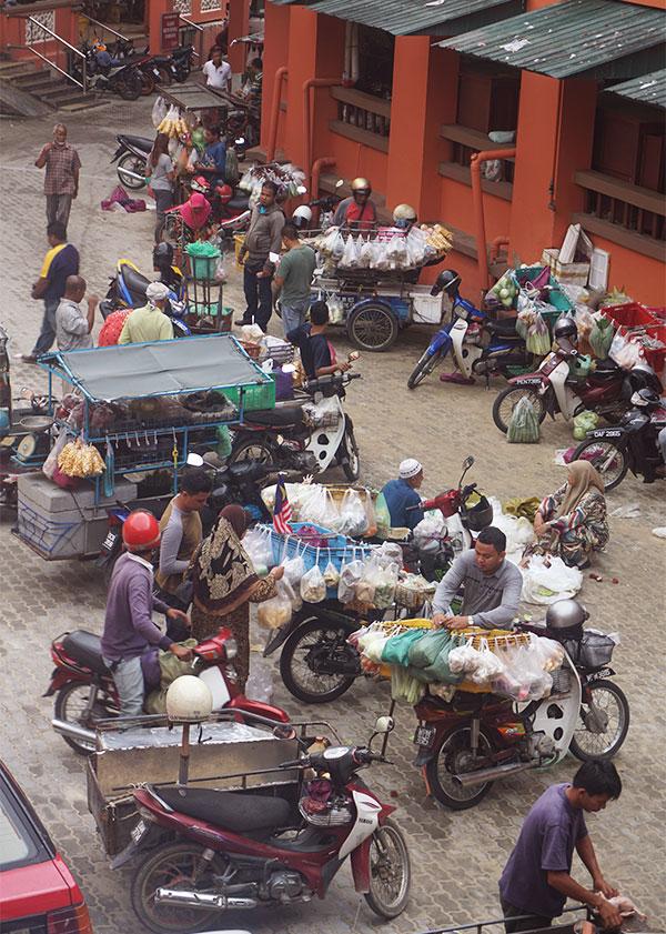 Scene Kota Bharu markt
