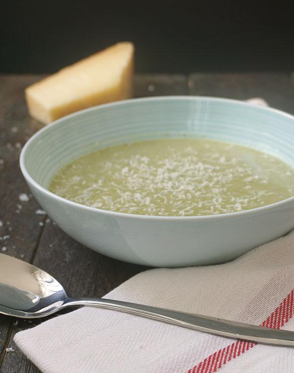 broccolisoep met creme fraiche