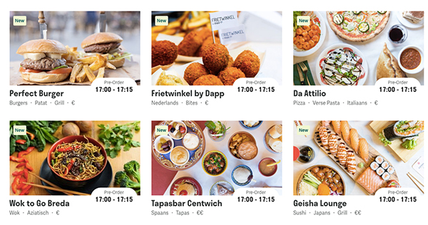 Deliveroo restaurants Breda