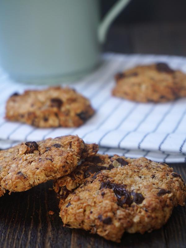 Havermout koekjes met chocolade en kokos