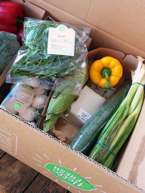 Hello Fresh Box groene maandag