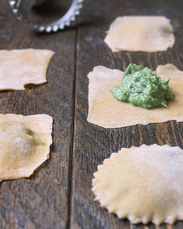 homemade ravioli met spinazie en ricotta
