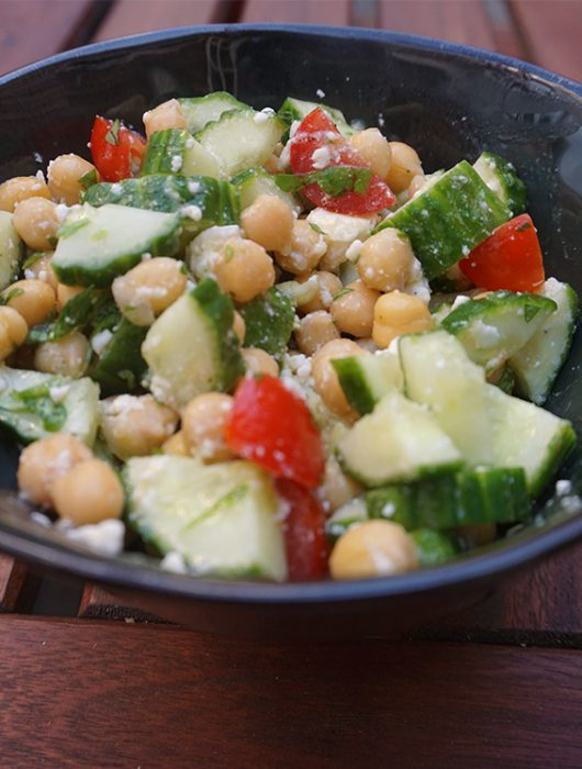 kikkererwten salade met feta